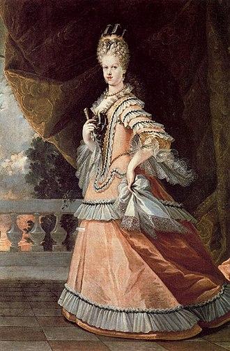 1702 in Spain - María Luisa Gabriela de Saboya. 1708. Óleo sobre lienzo. 208 x 142 cm. Colección del Marqués de Santillana. Palacio del Infantado. Guadalajara