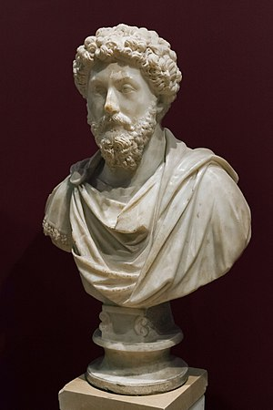 Marcus Aurelius - Bust of Marcus Aurelius in the Archaeological Museum of Istanbul, Turkey
