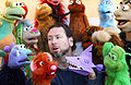 Marcus clarke puppeteer talking with his Puppets.JPG