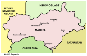 Mari El - Map of the Mari El Republic