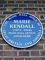 Marie Kendall (1873-1964) Music Hall Artiste lived here.jpg