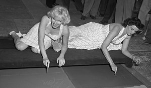 Title: Actresses Marilyn Monroe and Jane Russe...
