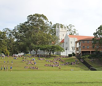 Marist College Ashgrove - View of The Tower from Cameron Oval