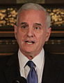 Mark Dayton at a press conference to discuss his jobs plan (cropped).jpg