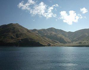 Marlborough Sounds - The Marlborough Sounds as seen from the Wellington-Picton ferry.