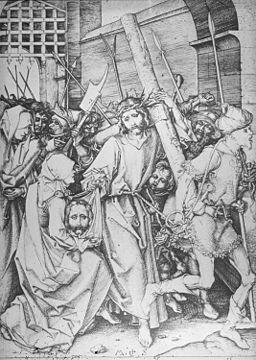 Martin Schongauer - Kreuztragung Christi (L 26)