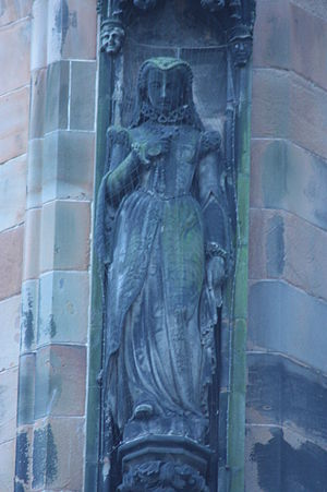 David Watson Stevenson - Mary Queen of Scots by D W Stevenson, Scott Monument, Edinburgh