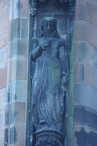 David Watson Stevenson - Mary Queen of Scots by D W Stevenson, Scott Monument, Edinburgh
