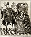 Mary Queen of Scots with her husband Henry Stuart Lord Darnley, engraved by Renold Elstracke in 1603.jpg