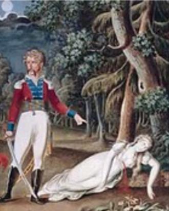 I masnadieri - Death of Amalia in act 5 of Schiller's play, Die Räuber