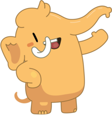 A cartoon Mastodon mascot