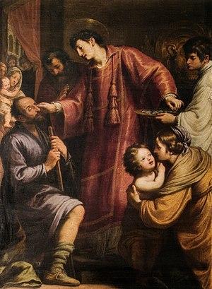 Matteo Rosselli - Image: Matteo rosselli, san lorenzo che distribuisce i beni della chiesa ai poveri e risana un cieco
