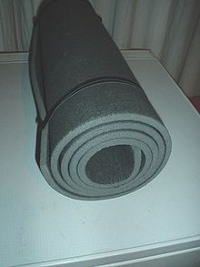 Foam rubber yoga mat.