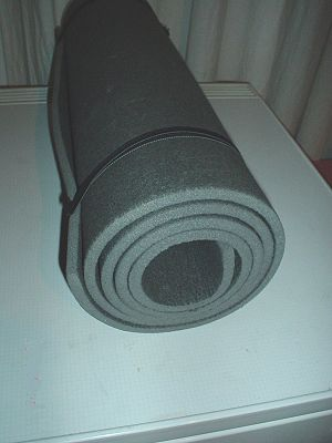 Rolled sleeping pad