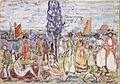 Maurice Prendergast - Beach with Blue Tree - Google Art Project.jpg