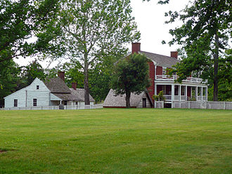Battle of Appomattox Court House - The reconstructed McLean House (brick house on right)