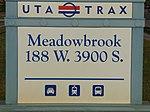 Meadowbrook station street sign, Aug 16.jpg