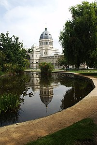 Melbourne Royal Exhibition Building with pool.jpg