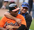 Melvin Mora and Johan Santana on June 16, 2009.jpg