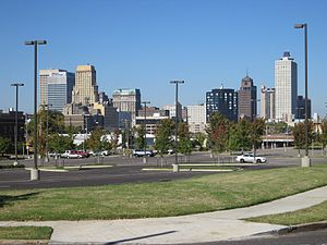 Downtown Memphis, Tennessee - Downtown Memphis as seen from Poplar Avenue