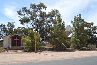 Meringur - St John the Evangelist's Lutheran church, built in a style similar to those in South Australia