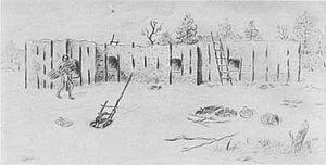 Pueblo I Period - Image: Mesa Verde Pueblo II Post and Adobe Village