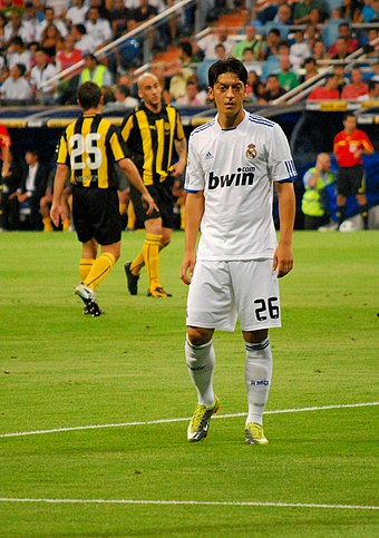 5ed622a63 Özil playing for Real Madrid in 2010