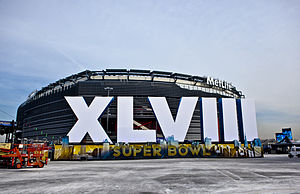 Human trafficking in the United States - Exterior of MetLife Stadium for Super Bowl XLVIII