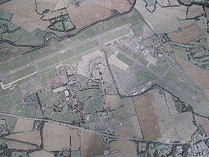 Edinburgh Airport - Aerial view of Edinburgh Airport