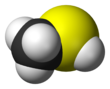 -filling model of the methanethiol molecule