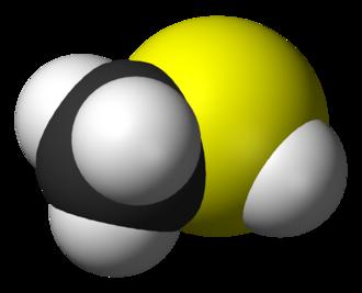 Methanethiol - Image: Methanethiol 3D vd W