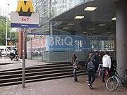 Ingang metrostation Beurs