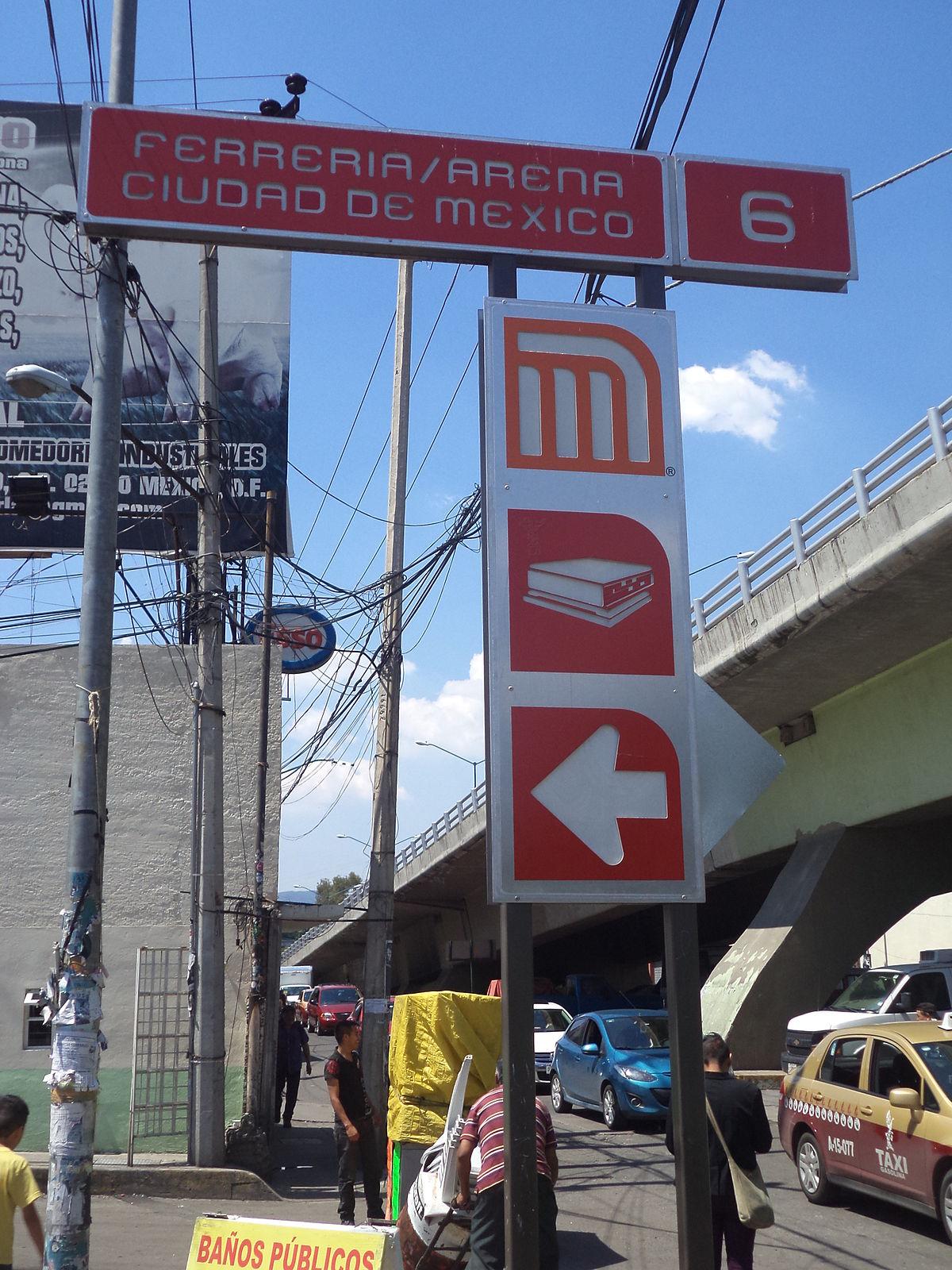 Ferrer a arena ciudad de m xico estaci n wikipedia la for Cerca b b