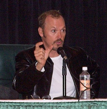 Michael Keaton promoting his movie White Noise...