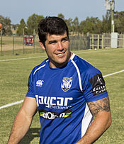 Michael Ennis, Bulldogs captain, at McDonald's Park.jpg