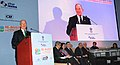 Michael R. Bloomberg addressing the Plenary Session India- The new investment Destination for renewable Energy, in New Delhi. The Minister of State (Independent Charge) for Power, Coal and New and Renewable Energy.jpg