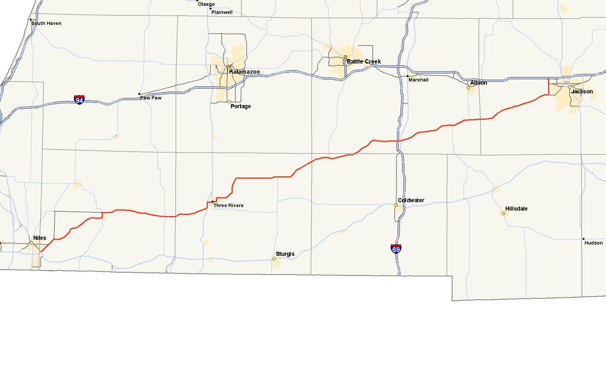 Plainwell Michigan Map.M 60 Michigan Highway Wikipedia