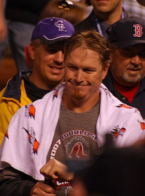 Mike Timlin - Timlin after winning the 2007 World Series