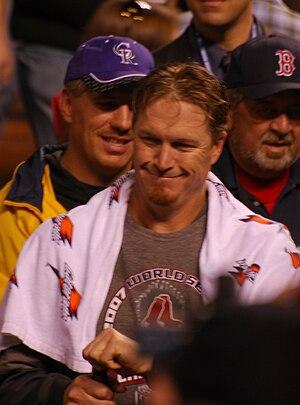 Mike Timlin - Timlin after winning the 2007 World Series