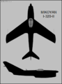 Mikoyan-Gurevich I-320-II two-view silhouette.png