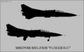 Mikoyan-Gurevich MiG-23UB side-view silhouette.png