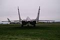 Mikoyan-Gurevich MiG-29 Fulcrum-C RearLow EASM 4Feb2010 (14567976496).jpg