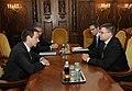 Ministru prezidents Valdis Dombrovskis tiekas ar Ungārijas premjerministru Gordonu Bajnai (3663988229).jpg