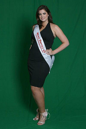 Plus-size model - Miss Surrey 2008 Chloe Marshall