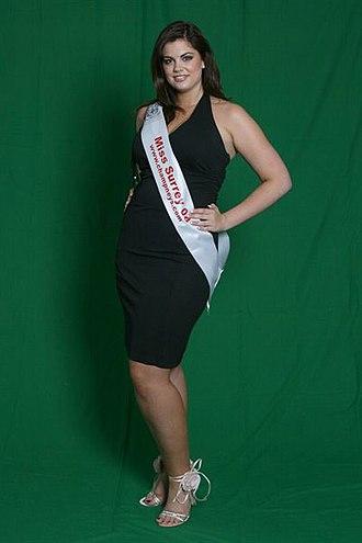Plus-size model - Miss Surrey 2008 Chloe Marshall
