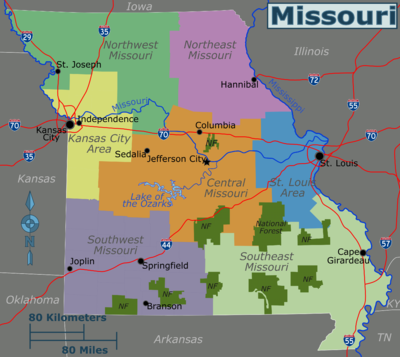 Northwest Missouri Map.Northwest Missouri Travel Guide At Wikivoyage