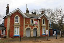 Mistley station from the road 2011.jpg