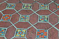 Mixed patio tile at the Adamson House in Malibu, CA.jpg