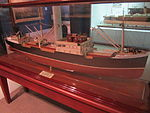 Model of TSMV Ocean Coast (ship), Merseyside Maritime Museum.JPG