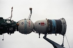 Model of a Soyuz spacecraft, 1985.JPEG